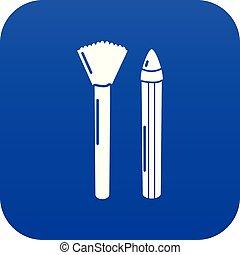 Brush pencil icon blue vector