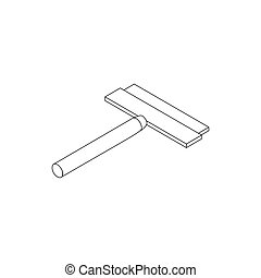 Brush squeegee icon, isometric 3d style