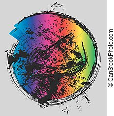 brush stroke color circle textur