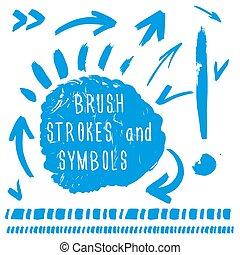 Brush strokes and simbols