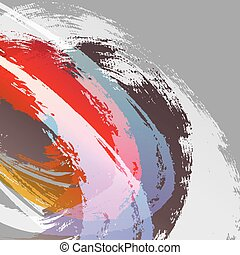 Brush strokes background vector