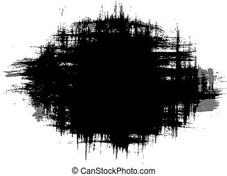brush strokes - black grungy abstract hand-painted brush...