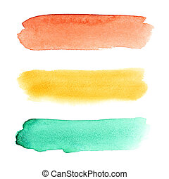 Brush strokes - Colorful watercolor brush strokes