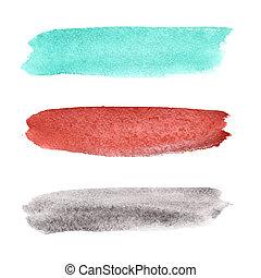 Brush strokes - Colorful watercolor brush strokes