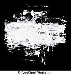 Brush strokes of white oil paint