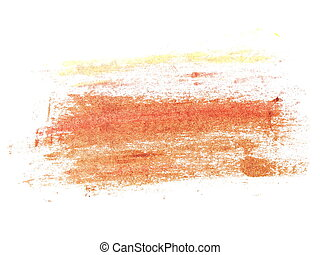 brush strokes oil paint isolated