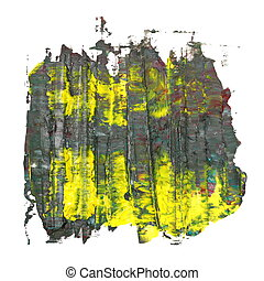 brush strokes oil paint isolated