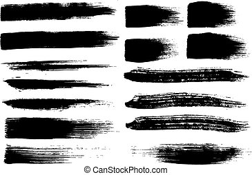 Brush strokes set