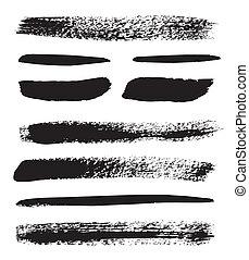 Brush strokes - Set of grunge brush isolated on white...