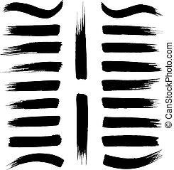 Brush strokes vector on a white background.