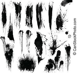 Brush Strokes with the Greyscale volume set 02.
