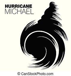 Hurricane Michael - Brush style design of Hurricane Michael...