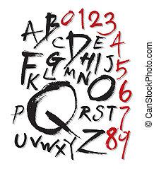 brush style font - brush style hand written font