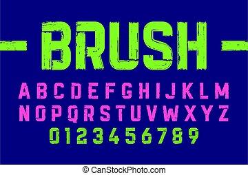 Brush style modern font