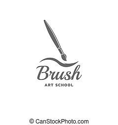 Brush vector emblem