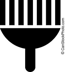 brush vector icon. Illustration isolated for graphic and web design.