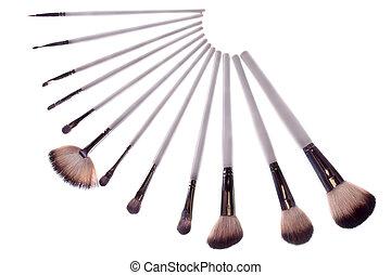 Brush white makeup