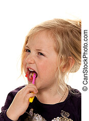 brush your child while brushing. toothbrush and toothpaste -...