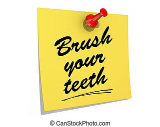 Brush Your Teeth White Background