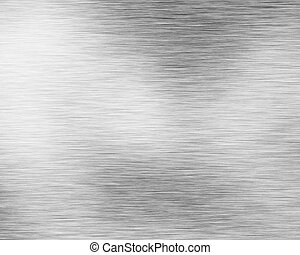 Brushed alluminium metal plate with reflection
