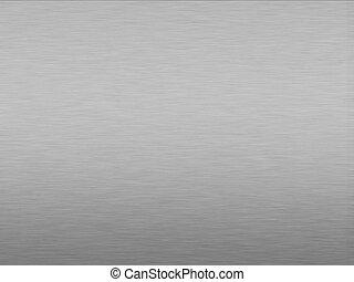 Brushed Aluminum - Brushed aluminum background effect with...