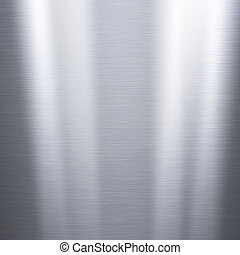 Metal background or texture of brushed aluminum plate