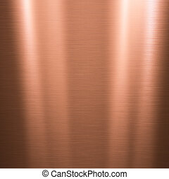 Brushed copper metallic plate
