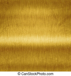 brushed gold - An image of a brushed metal gold plate...
