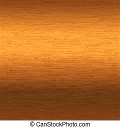 brushed gold surface