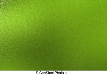 Brushed green foil metallic sheet, abstract texture background