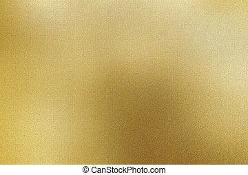 Brushed light yellow metallic sheet, abstract texture background