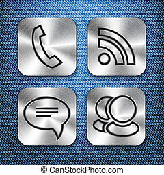 Brushed metal app icon templates 3