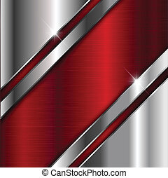 Brushed metal background - Abstract background with a...