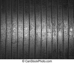 brushed metal background.