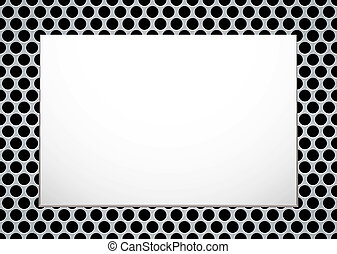 brushed metal picture - Brushed metal background with blank...