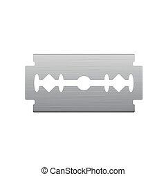 Brushed Metal Razor Blade Icon
