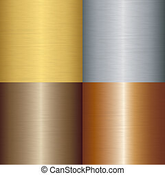 Brushed metal set, vector