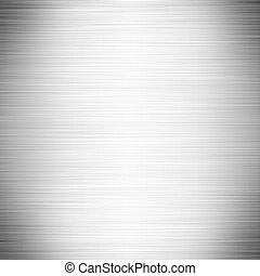 Illustration of brushed stainless steel or aluminum background.