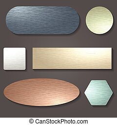 Brushed metal surface set
