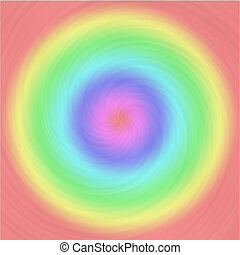 Brushed metal swirl pattern with pastel colorful circles