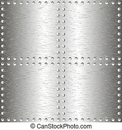 Brushed metal, template background.