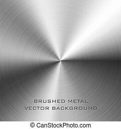 Vector illustration of brushed metal background