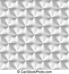 Vector illustration of brushed metal texture with circular pattern.