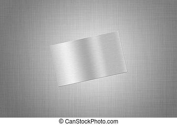 brushed metall card