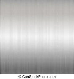 Brushed Silver Metallic Background, Vector Illustration