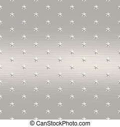 a large sheet of brushed metal with stars embedded on it