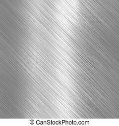 Brushed steel metallic plate - Metal background or texture...