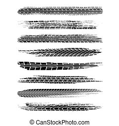 Brushed tire tracks set