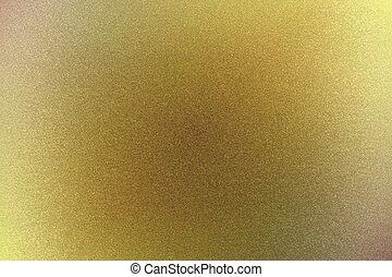 Brushed yellow metallic sheet surface, abstract texture background
