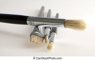 Brushes - A bunch of brushes over white background